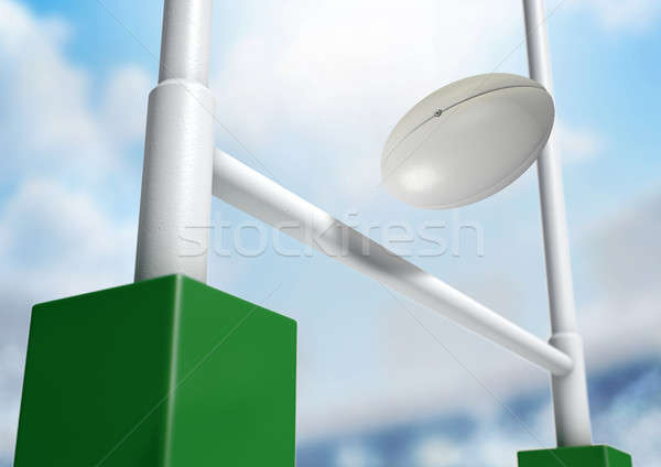 Rugby Posts Conversion Day Stock photo © albund