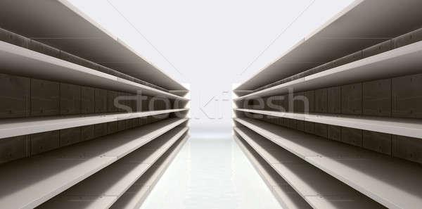 Winkelen gangpad lege perspectief Stockfoto © albund