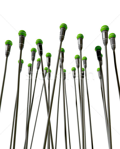 Upward Facing Microphones Stock photo © albund
