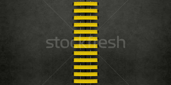 Yellow Laced Up Black Leather Stock photo © albund