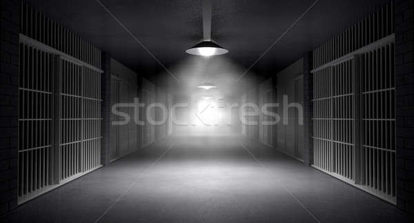 Haunted Jail Corridor And Cells Stock photo © albund