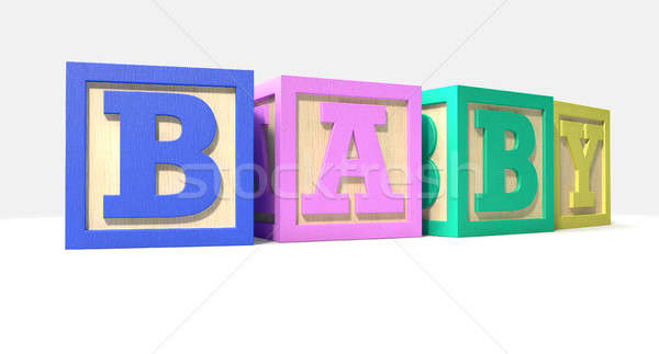 Stacked Baby Blocks Stock photo © albund