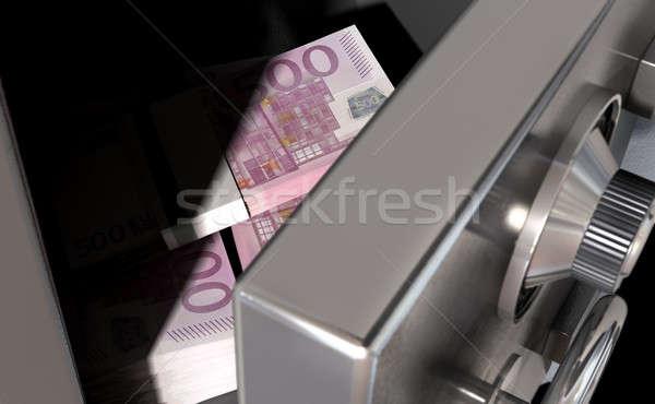 Open Safe With Euros Stock photo © albund