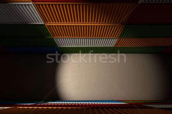 Shipping Container Corriidor Stock photo © albund