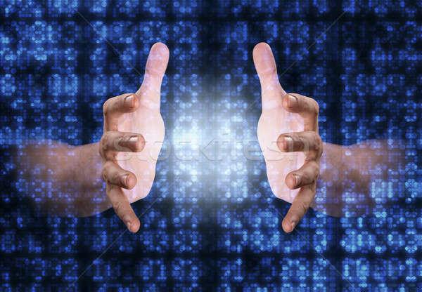 Digital Data Numbers Stock photo © albund