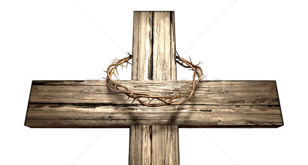 Crucifix With A Crown Of Thorns Stock photo © albund