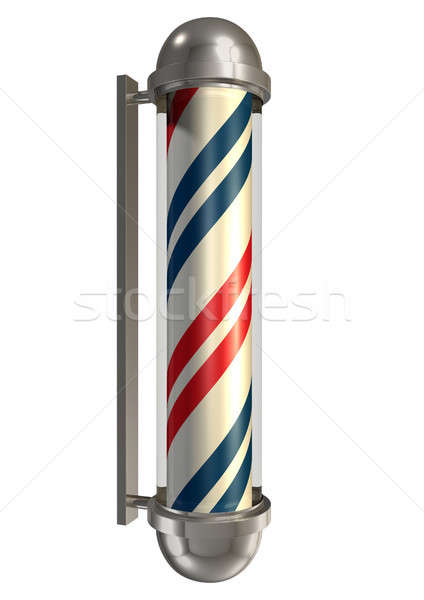 Barbers Poll Isolated Stock photo © albund