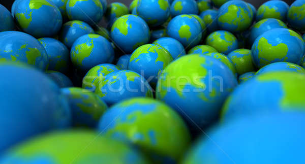 Stock photo: Gum Ball Earth Globes