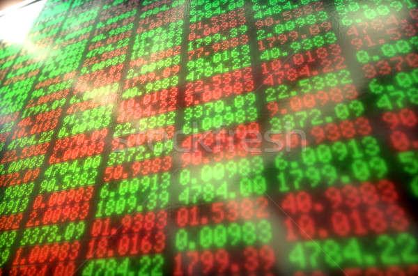 Фондовый рынок цифровой совета индикатор Сток-фото © albund