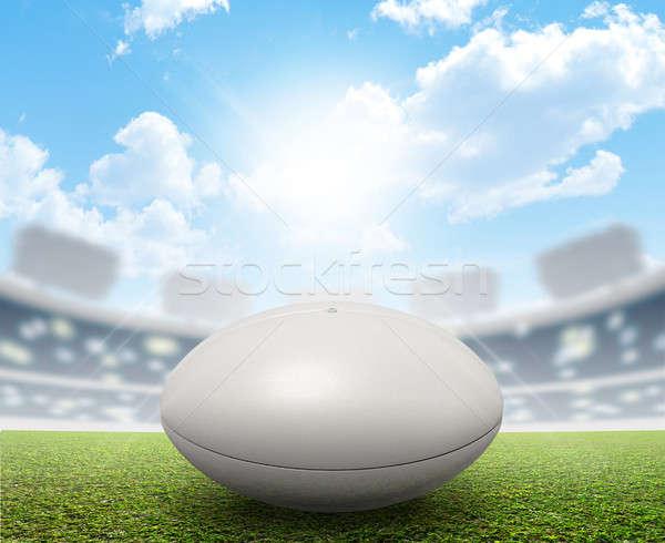 ラグビー スタジアム ボール ジェネリック 白 ラグビーボール ストックフォト © albund