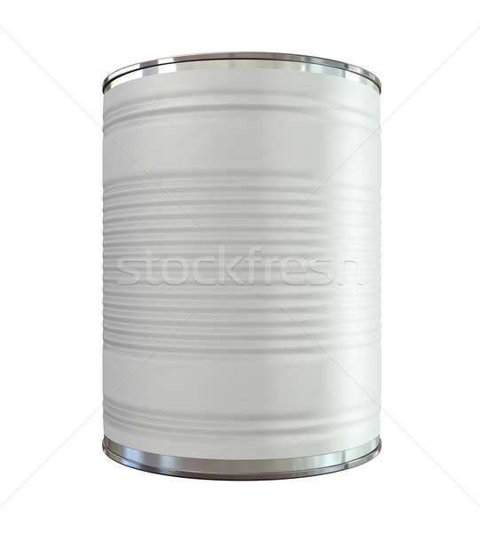 Tin Can with Label Front Stock photo © albund