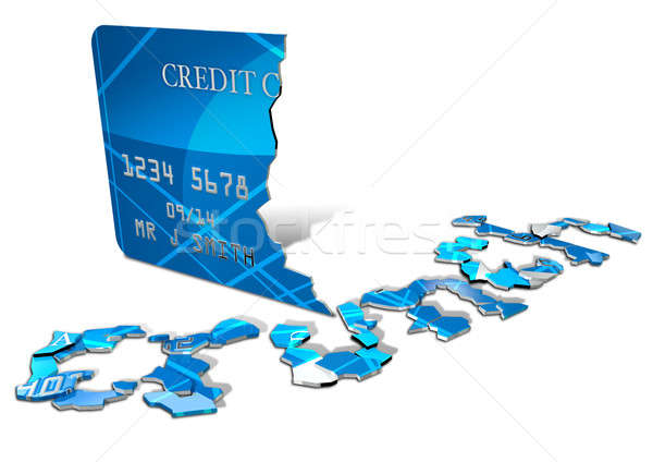 Credit Crunch Card Stock photo © albund