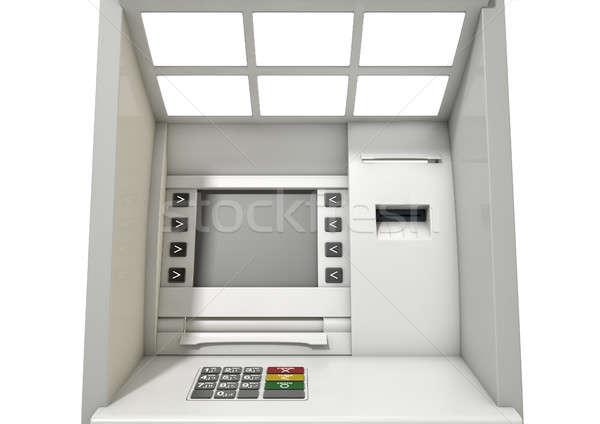 Caixa eletrônico fachada ver tela Foto stock © albund