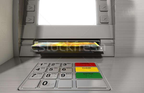 Atm fasada pieniężnych widoku Zdjęcia stock © albund