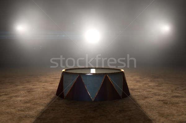 Circus ring podium 3d render klassiek arena Stockfoto © albund