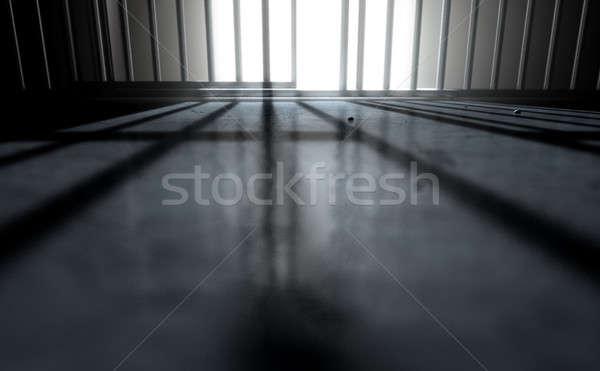 Cella di prigione ombre rendering 3d primo piano view carcere Foto d'archivio © albund