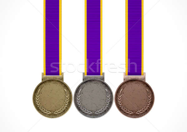 First Second And Third Medals Stock photo © albund