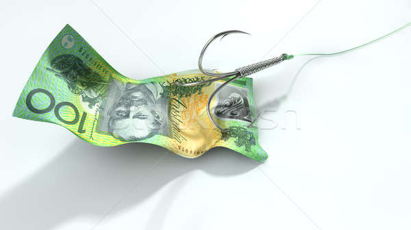 Australian Dollar Banknote Baited Hook Stock photo © albund