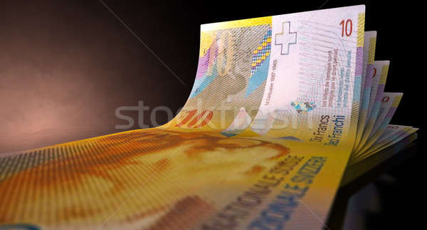 Franc Bank Notes Spread Stock photo © albund