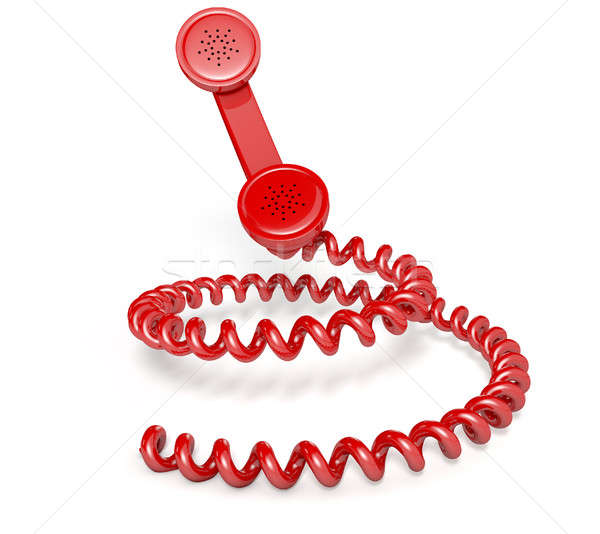 Handset And Coiled Cord Stock photo © albund