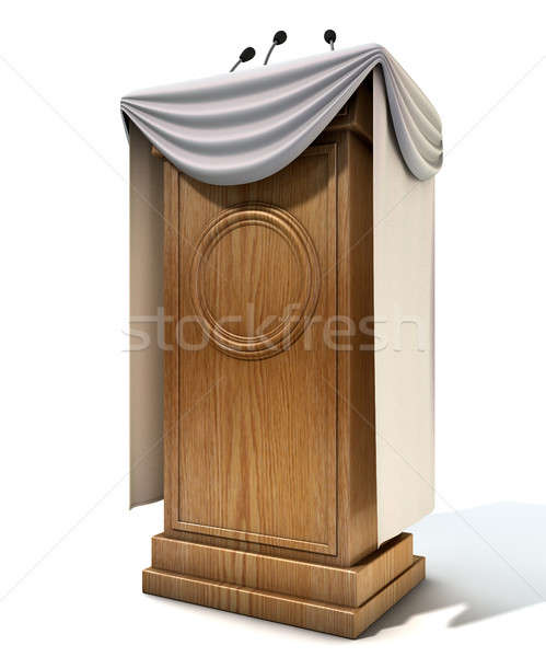 Press Conference Podium With Draping Stock photo © albund