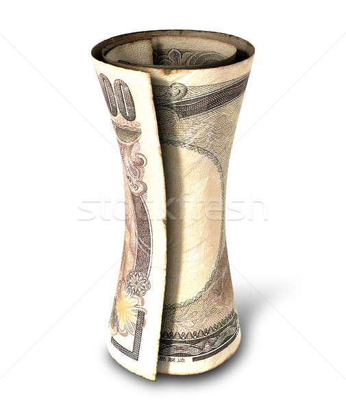 Dinheiro nota regular japonês yen Foto stock © albund