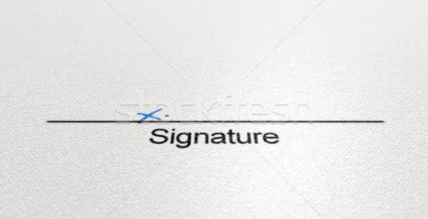 Signature Area X Stock photo © albund