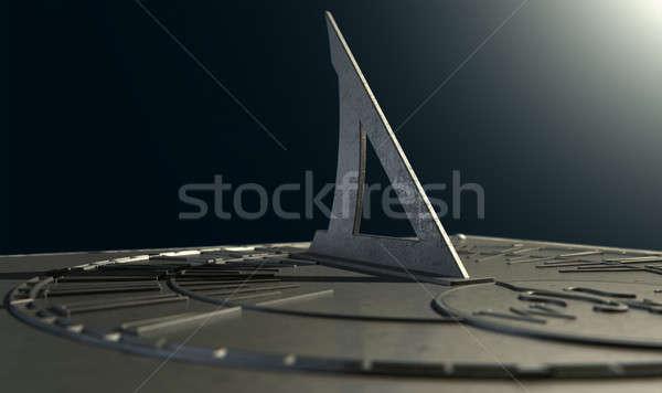 Zegar słoneczny stracił czasu ekstremalnych sekcja Zdjęcia stock © albund