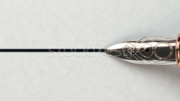 авторучка рисунок линия мнение Сток-фото © albund