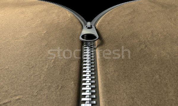 ジッパー フロント 観点 表示 革 アイテム ストックフォト © albund