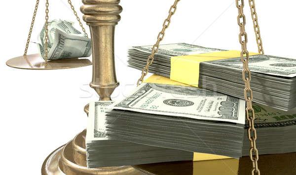 Весы правосудия доход разрыв США старые Сток-фото © albund