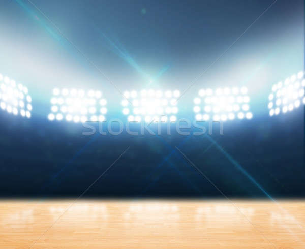 Indoor Floodlit Gymnasium Stock photo © albund