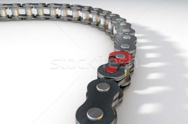 Bicycle Chain Missing Link Stock photo © albund