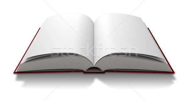 Blank Paged Book Open Stock photo © albund