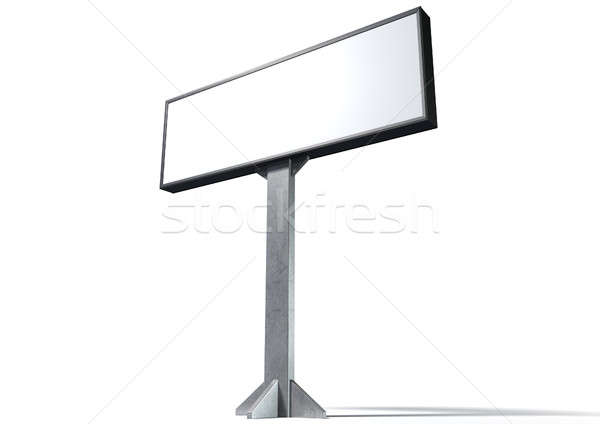 Licht vak horizontaal straat billboard geïsoleerd Stockfoto © albund