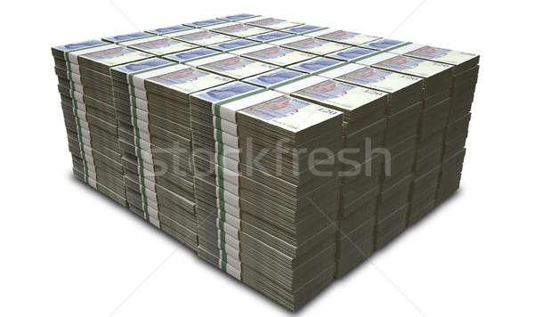 Brit font jegyzetek boglya bankjegyek izolált Stock fotó © albund