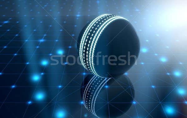 ストックフォト: ボール · ステージ · 未来的な · スポーツ · クリケット · ネオン