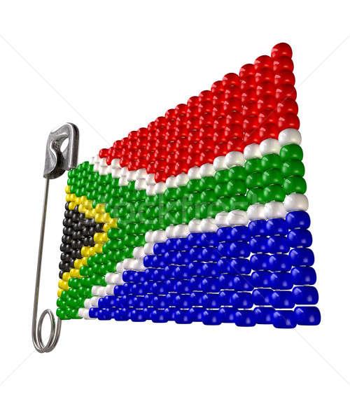 Güney afrika bayrak güvenlik pin geleneksel Stok fotoğraf © albund