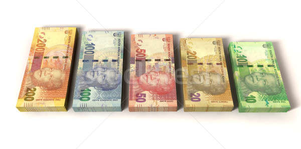 New South African Rand Notes Stock photo © albund