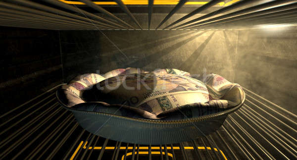 Noors geld taart oven Stockfoto © albund