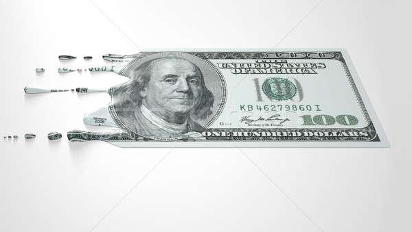 US Dollar Melting Dripping Banknote Stock photo © albund
