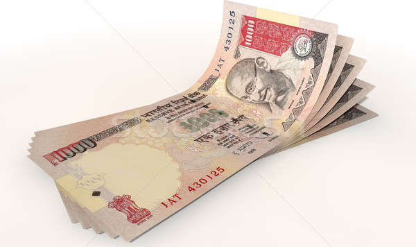 Rupee Bank Notes Spread Stock photo © albund