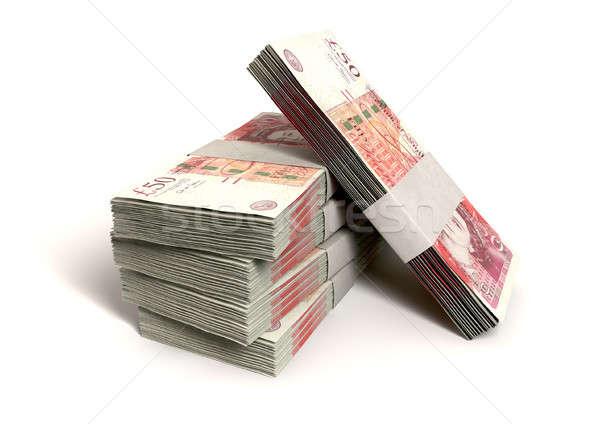 Brits een honderd pond merkt Stockfoto © albund