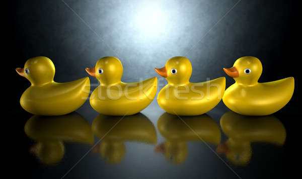 Get Your Ducks In A Row Stock photo © albund