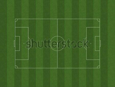 サッカー ピッチ フィールド 白 緑の草 サッカー ストックフォト © albund