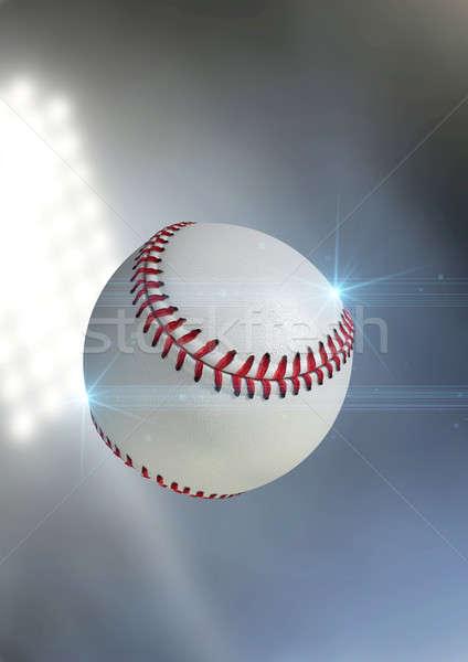 Bal vliegen lucht regelmatig baseball outdoor Stockfoto © albund