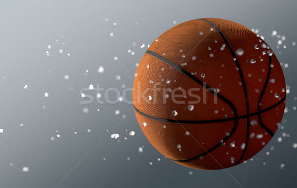 Basket Ball In Flight Stock photo © albund