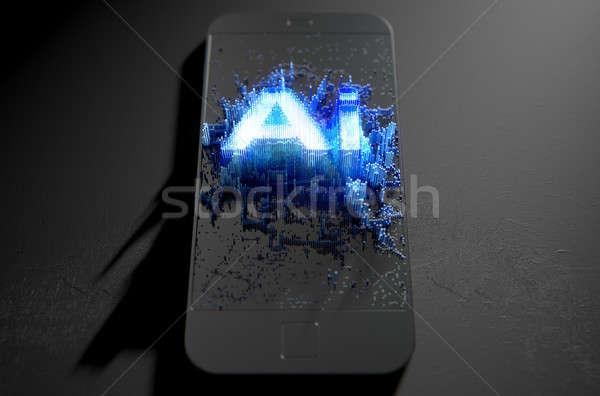 Artificial Intelligence Cloner Smartphone Stock photo © albund