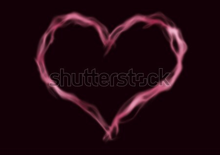 пар формы сердца красный дым черный Сток-фото © albund
