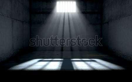Luz do sol brilhante prisão célula janela cela Foto stock © albund